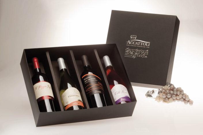 confezioni in cartone vini accattoli